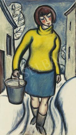 A. Tóth Sándor - Lány sárga pulóverben