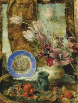 Kontuly Béla - Csendélet tulipánnal