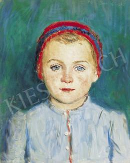 Glatz Oszkár - Kékszemű kislány, 1941