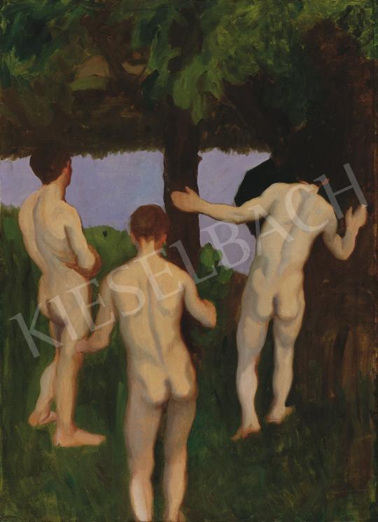 Ferenczy Károly - Est (Fürdőző férfiak), 1912 | 35. Aukció aukció / 130 tétel