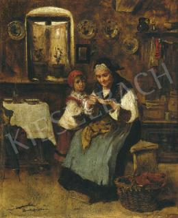 Bruck, Lajos - Grandmother with with Her Grandchild