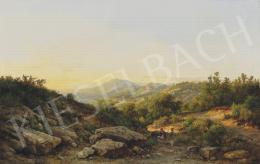 Ifj. Markó Károly - Fiesole by Florence, 1888
