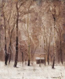 Mednyánszky, László - Cottage in Winter Landscape