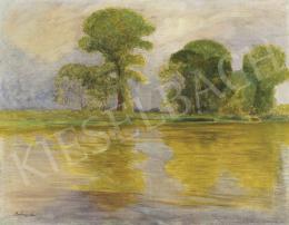 Szlányi Lajos - Napfényes folyópart