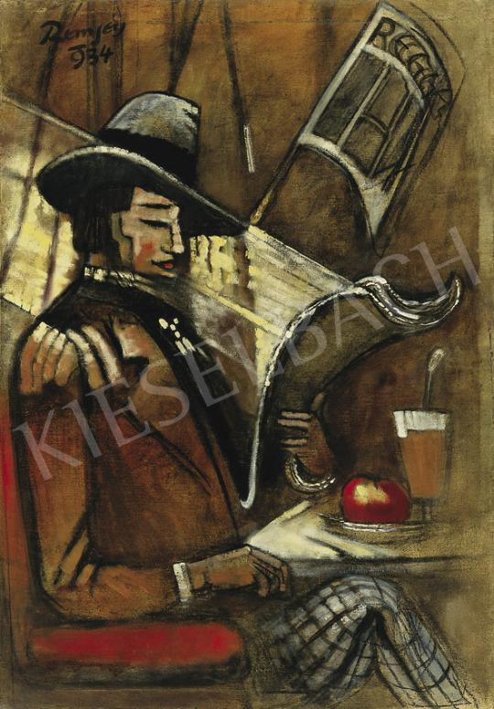 Remsey Jenő György - Párizsi kávéházban, 1934 | 35. Aukció aukció / 191 tétel