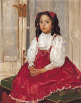 Kunffy Lajos - Pirosruhás lány