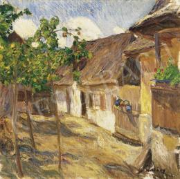 Hollósy, Simon - Courtyard in Sunshine