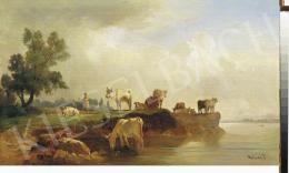 Molnár, József - Sunset on the Riverside
