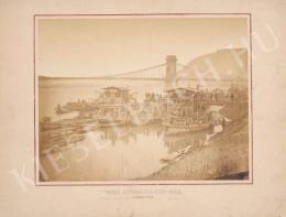 Lovich Antal - A budai rakpart építése a Lánchíd előtt, 1872