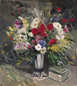 Emőd Aurél - Virágcsendélet bonbonierrel