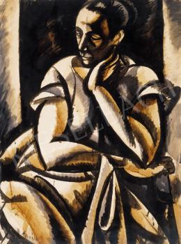 Uitz, Béla - Sitting Woman (1918)
