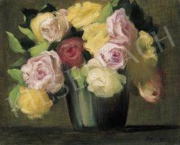 Vaszary János - Rózsás csendélet