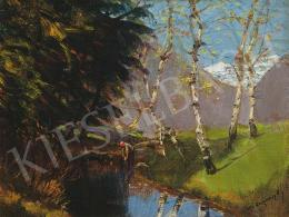 Mednyánszky, László - Birch Trees by the Brook