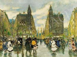 Berkes Antal - A pesti belváros, 1916