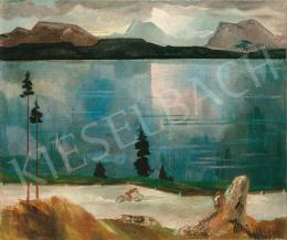 Molnár C. Pál - Motoros a tóparton, 1930-as évek