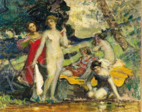 Thorma János - Lányok a vízparton | 36. Aukció aukció / 19 tétel