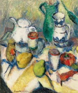 Vass Elemér - Csendélet gyümölcsökkel, 1933