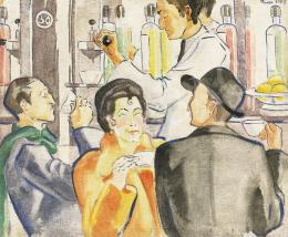 Móricz, Margit, - Café in Rome, 1937