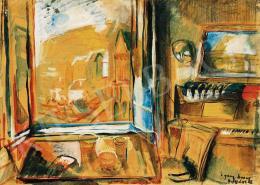 Egry József - Kilátás a badacsonyi műteremből, 1928