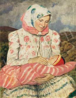 Glatz Oszkár - Anya gyermekével, 1936