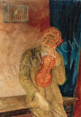 Berény Róbert - Fiú hegedűvel (Madárdal) (1930-as évek)