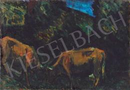 Nagy, István - Landscape in Transsylvania (Cows), about 1925