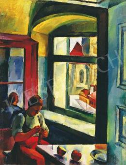 Nagy Imre - Lány ablaknál, 1923