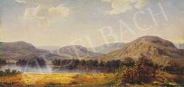 Telepy Károly - Tájkép tóval