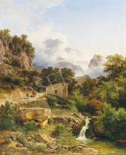 Ifj. Markó Károly - Itáliai táj, 1889