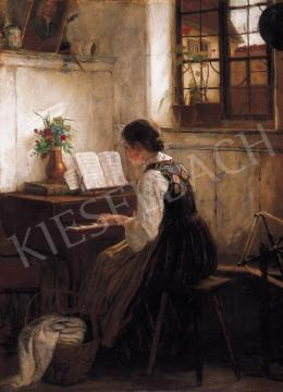Igler, Gustaw - Girl Playing by the Piano