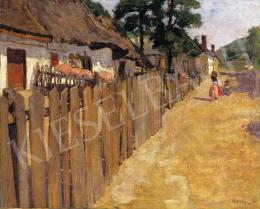 Fényes, Adolf - Sunlit Street with Children, 1902