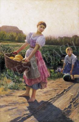 Jendrassik Jenő - Dinnyeszüret (1897)