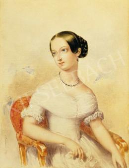 Barabás Miklós - Fehér ruhás leány, 1842