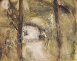 Czóbel Béla - Ház fák között