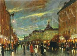 Berkes, Antal - Evening Lights on the Boulevarde, 1912