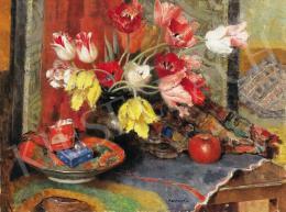 Kontuly Béla - Tulipános csendélet
