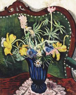 Vörös, Géza - Still Life in a Blue Vase, 1935