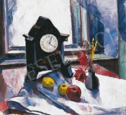 Barcsay Jenő - Csendélet asztali órával