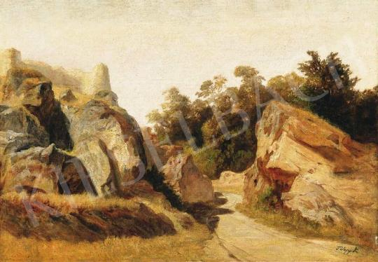 Telepy Károly - Sziklás táj   36. Aukció aukció / 204 tétel