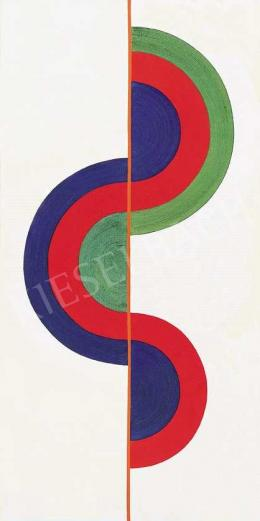 Keserü, Ilona - Szuszék (Part of Hungarian folk furniture - a crave) Study II (Compiled Wave),  1969