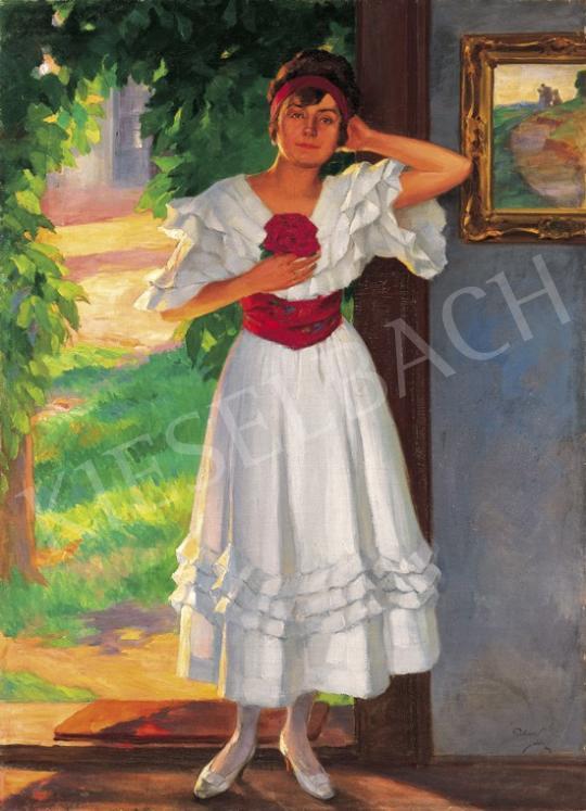 Pechán József - Napsütésben | 19. Aukció aukció / 48 tétel