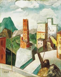 Molnár C. Pál - Itáliai városka