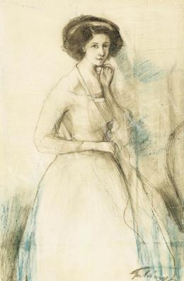 Gulácsy Lajos - Fehérruhás hölgy (1910 körül)