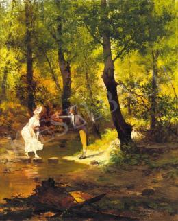 Cserépy Árpád - Átkelés a patakon, 1901