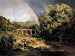 Id. Markó, Károly sr. - Italian Landscape with Viaduct and Rainbow (1838)