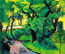 Dénes Valéria - Párizsi részlet (Cluny park) (1910-11 körül)