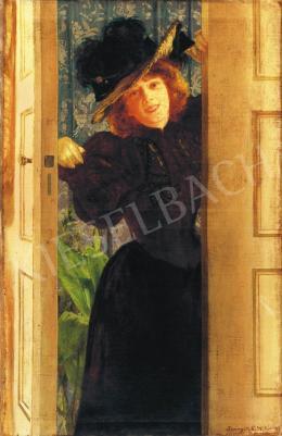 Spányik Kornél - Fiatal lány, 1897