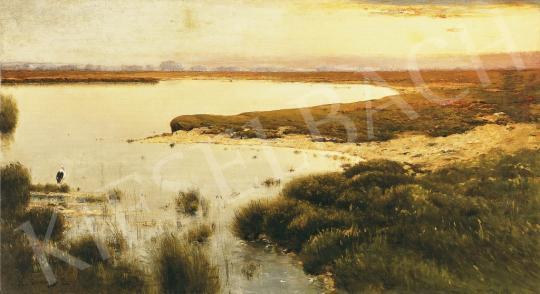 K. Spányi Béla - Alkony a víz partján | 37. Aukció aukció / 115 tétel