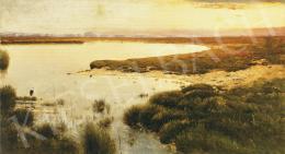 K. Spányi Béla - Alkony a víz partján
