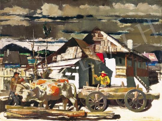 Aba-Novák, Vilmos - Courtyard in Zsögöd, around 1936 | 37th Auction auction / 143 Item